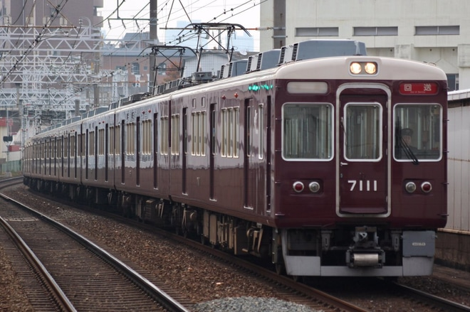 【阪急】7000系 7011F正雀工場入場回送