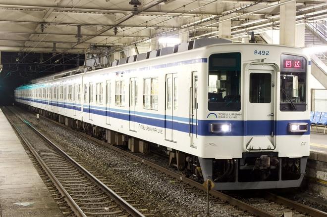 【東武】高柳駅付近線路切り替えに伴う試運転