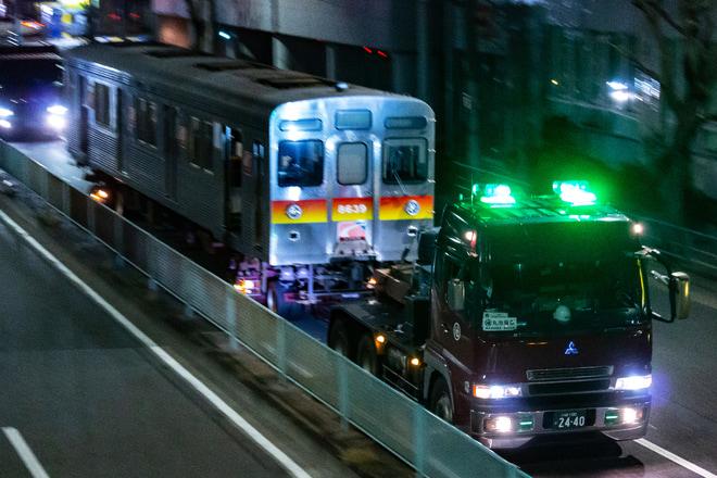 【東急】8500系8639Fデハ8639,0701廃車陸送