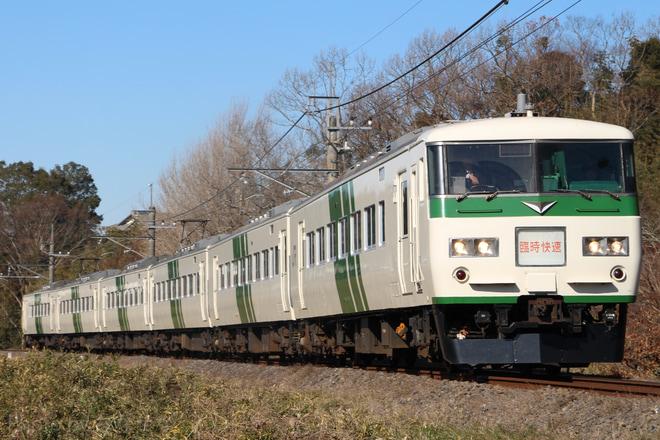 【JR東】185系使用 快速「早春成田初詣号」