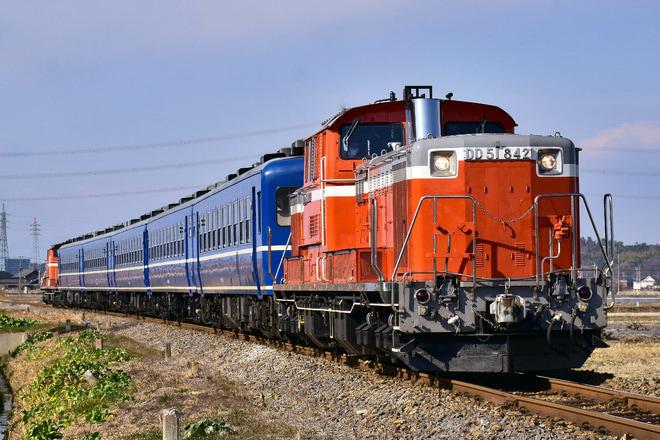 【JR東】DD51+12系5両 八高線乗務員訓練(201901)