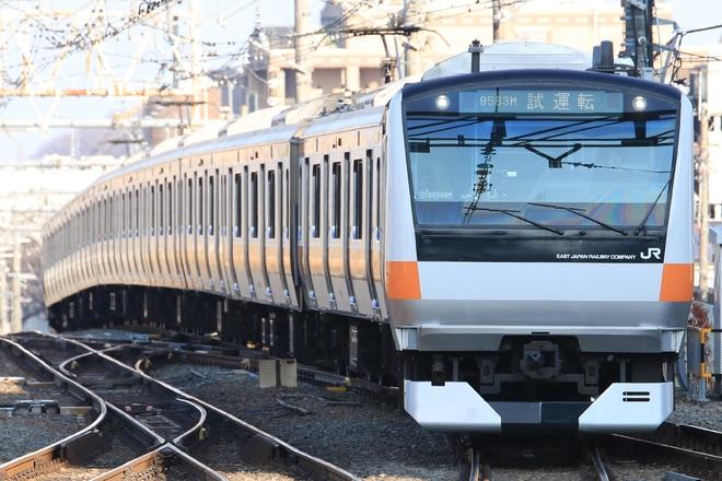 【JR東】E233系T10編成 ホーム検知器性能確認試運転