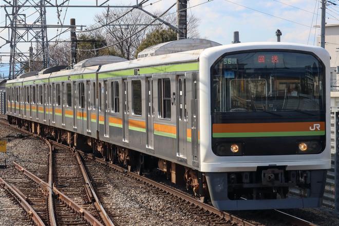 【JR東】209系ハエ72編成 大宮総合車両センター入場