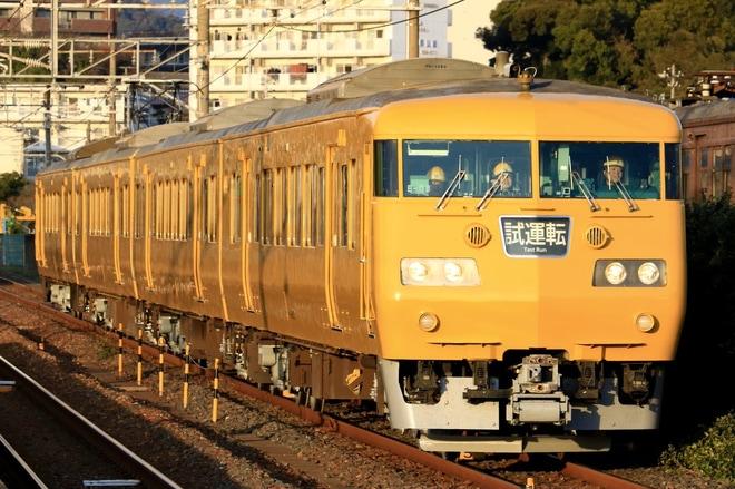 21位【JR西】117系E-08編成ATS-Pを搭載して下関総合車両所出場試運転(アクセス数:5760)