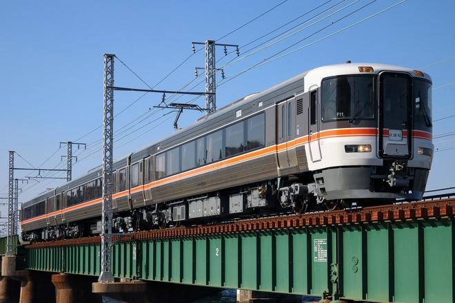 【JR海】373系F11編成名古屋工場出場試運転