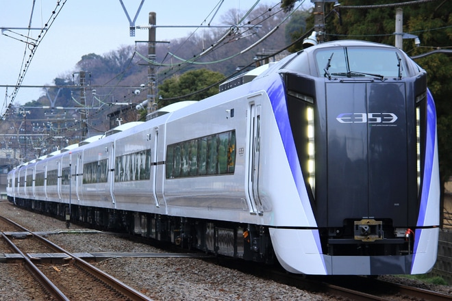 【JR東】E353系S120編成+S209編成 J-TREC出場試運転