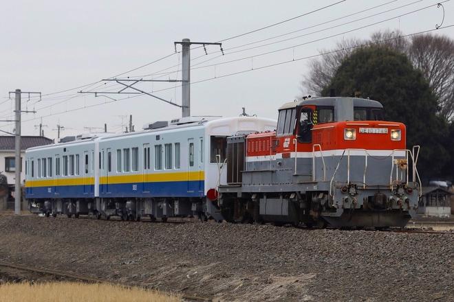 【関鉄】5020形キハ5021+5022 甲種輸送
