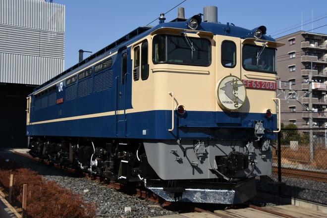 【JR東】鉄道博物館「カモツのま・つ・り」にてJR貨物EF65-2081が展示