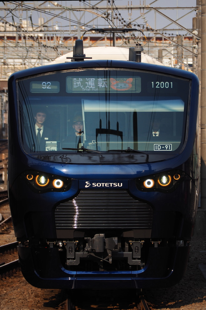 【相鉄】12000系12101F(12101×10)横浜へ初入線