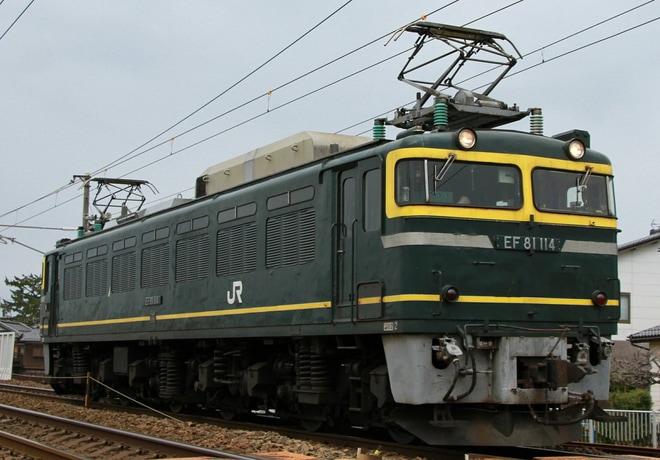【JR西】EF81-114金沢総合車両所入場