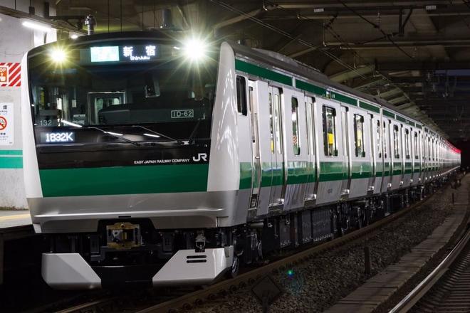 【JR東】E233系ハエ132編成営業運転開始