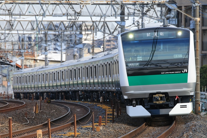 【JR東】E233系7000番台ハエ134編成 J-TREC出場試運転
