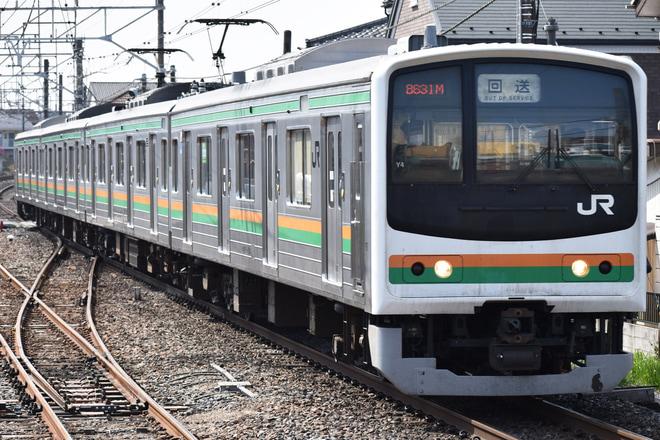【JR東】205系ヤマY4編成 大宮総合車両センター出場