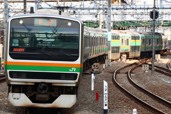 【JR東】E231系コツK-24編成 東京総合車両センター入場