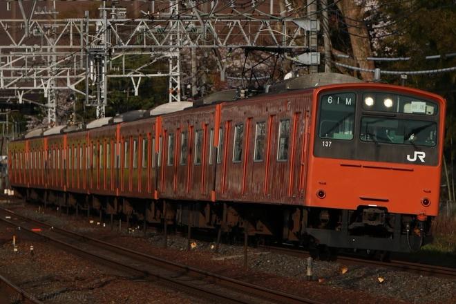 【JR西】201系LB14編成向日町疎開回送