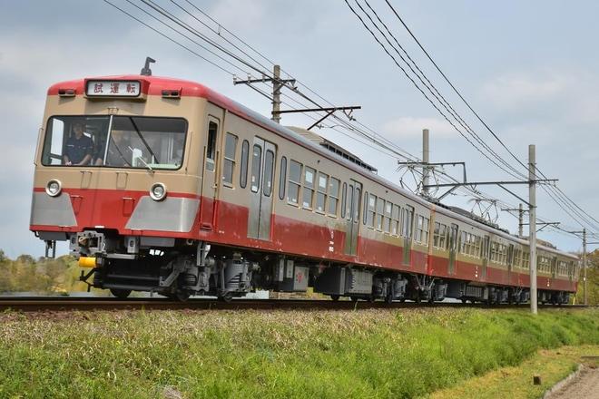 【三岐】西武赤電復刻塗装となった801系803編成試運転
