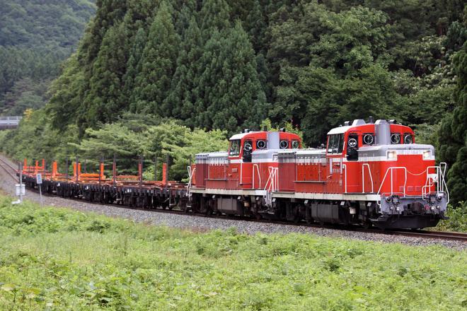 【JR東】DE10-1647+DE10-1759の重連の川部工臨返空運転