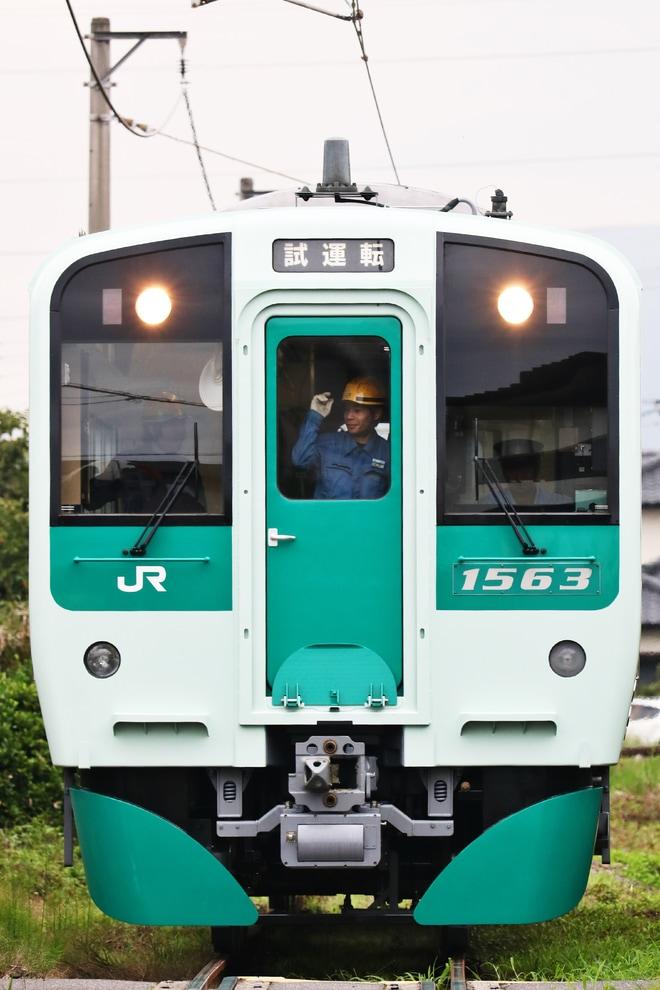 【JR四】1500形1563多度津工場構内試運転
