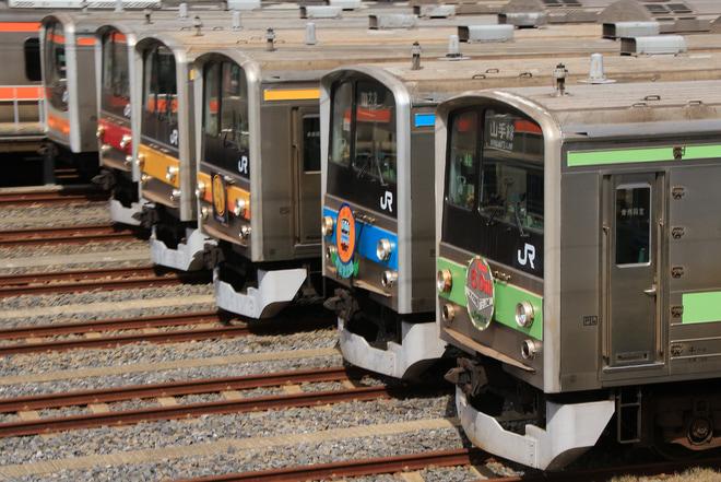 【JR東】京葉車両センターにて205系を並べる謎の撮影会