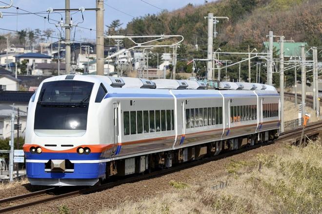 【JR東】E653系H201編成秋田総合車両センター出場