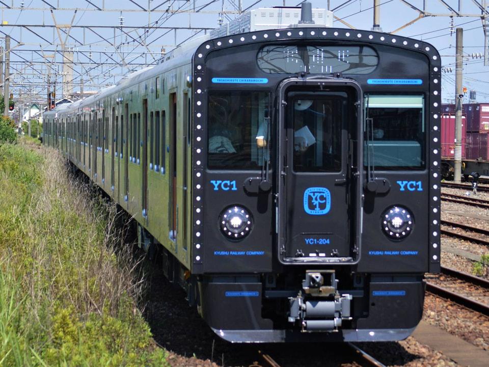 【JR九】YC1系小倉総合車両センター出場試運転の拡大写真